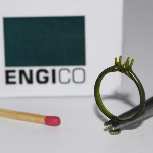 نمونه انگشتر پرینت شده با تکنولوژی LIPS