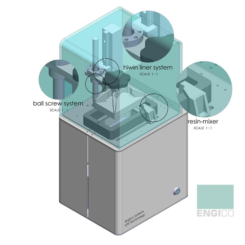 پرینتر سه بعدی LIPS / MSLA